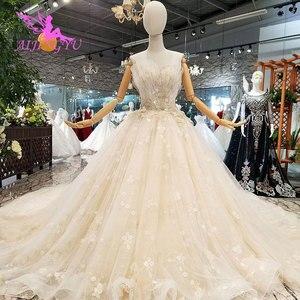 Image 5 - AIJINGYU אירוסין הכלה שמלות גותי חתונה קוריאני חנות אמיתי תמונה בלארוס למכירה שמלת Outlet לבן חדש שמלה