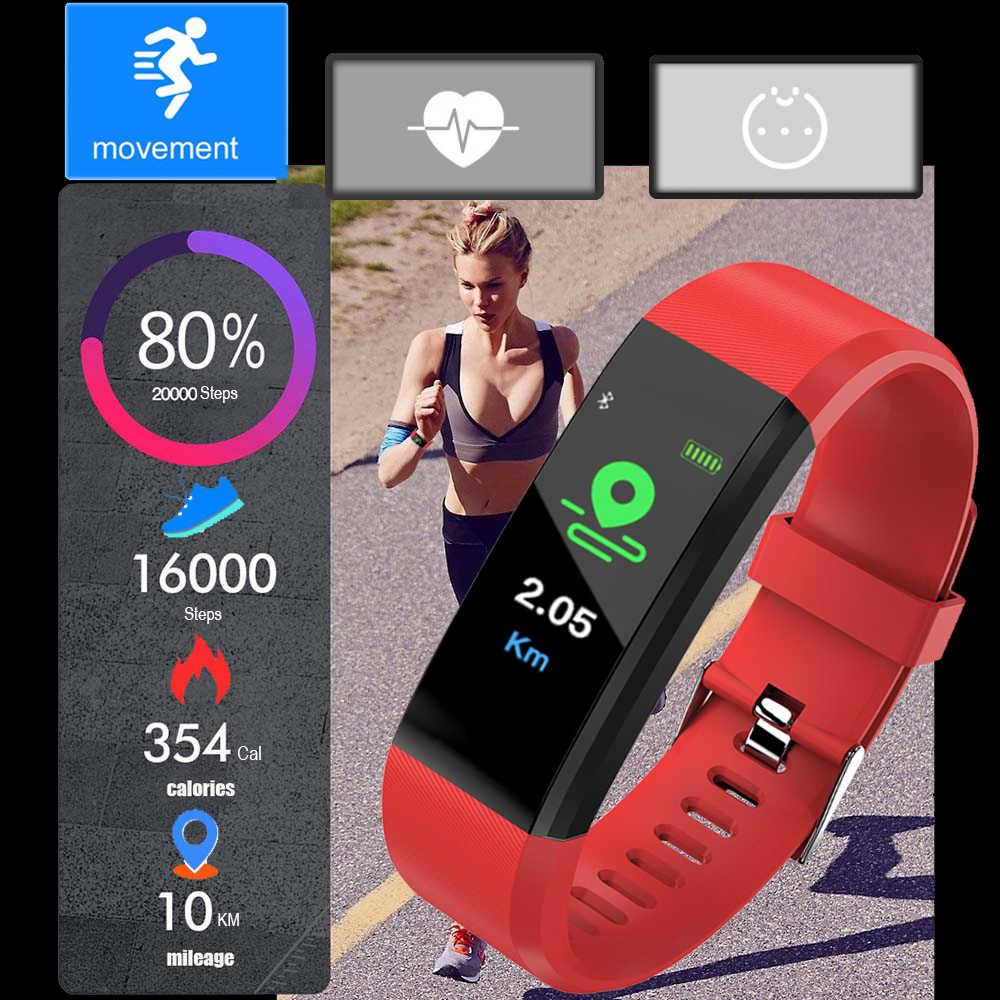 ใหม่สมาร์ทสร้อยข้อมือฟิตเนส Heart Rate ความดันโลหิต Pedometer สายรัดข้อมือกีฬาสมาร์ทนาฬิกาผู้ชายผู้หญิงสำหรับ IOS Android