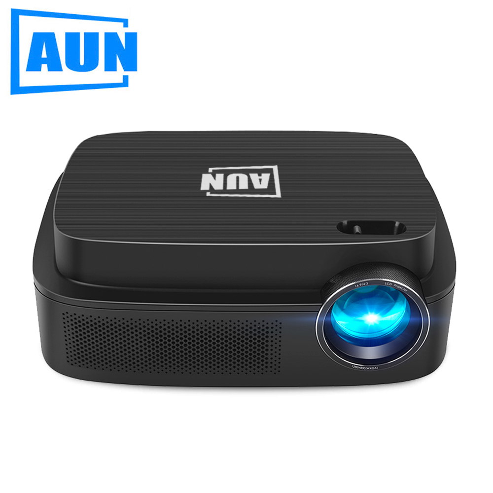 AUN Android 6.0 Projector AKEY3 Plus, 1280*800 Smart Beamer Built-in WIFI, Bluetooth, HDMI, HIFI Speaker. Optional AKEY3, LED TV