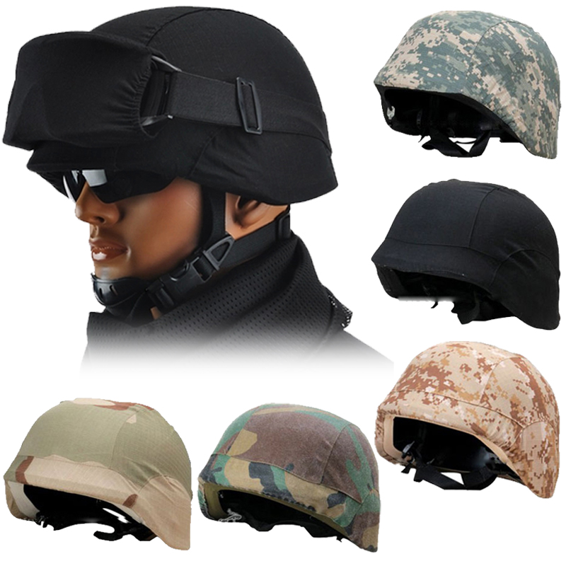 Tactical helmet High-strength ABS plastic CS military helmet airsoft paintball tactical helmet + cloth cover 6 color available