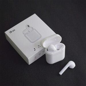 Image 1 - I9 tws bezprzewodowy zestaw słuchawkowy Bluetooth słuchawki stereo słuchawki sportowe z etui z funkcją ładowania dla Iphone Smart Phone słuchawki