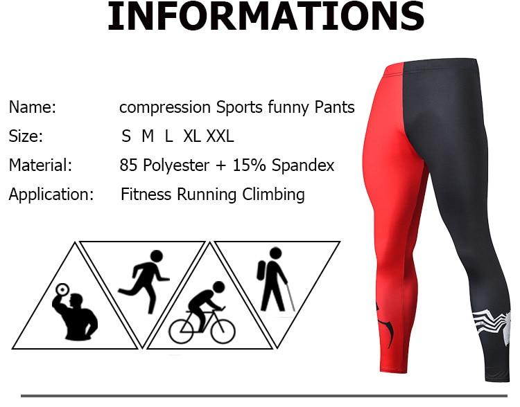 2019 Compression Pants Running Tights Men Training Pants Fitness Streetwear Leggings Men Gym Jogging Trousers Sportswear Pants 19