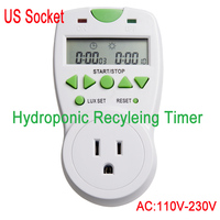 Free Shipping AC110 10A USA Socket Hydroponic Aeroponics Recyling Timer Control Socket For Exhaust Fans CO2