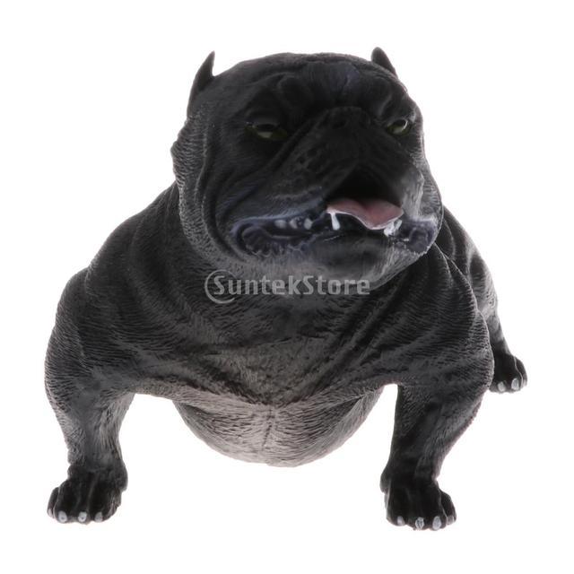 American Wild Cur Bully Dog Pitbull Pet Figurine Miniature Dog Guard