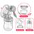Sacaleches 2017 Recién Nacido Bebé Potencia de Succión de silicona de Tres engranajes Extractores de leche Manual con 150 ml Dos Biberones RBX-8010