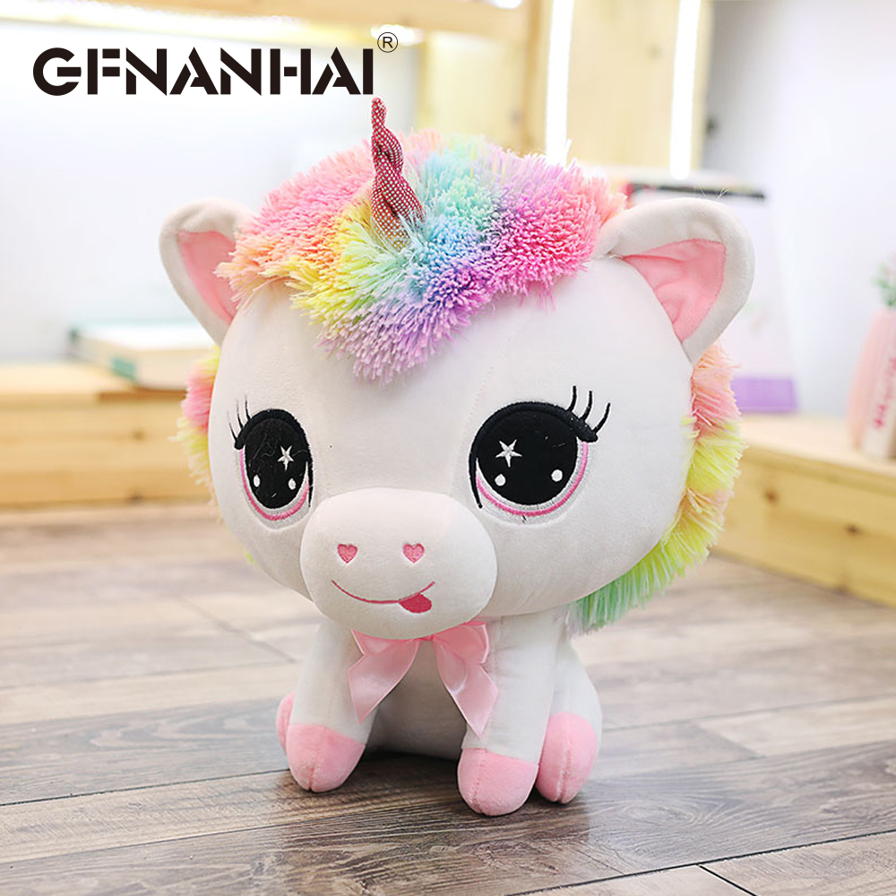 New arrival 35cm cute colorful unicorn plush toy stuffed soft kawaii animal horse doll for kids children playmates birthday gift kawaii fresh horse plush stuffed animal cartoon kids toys for girls children baby birthday christmas gift unicorn pendant dolls