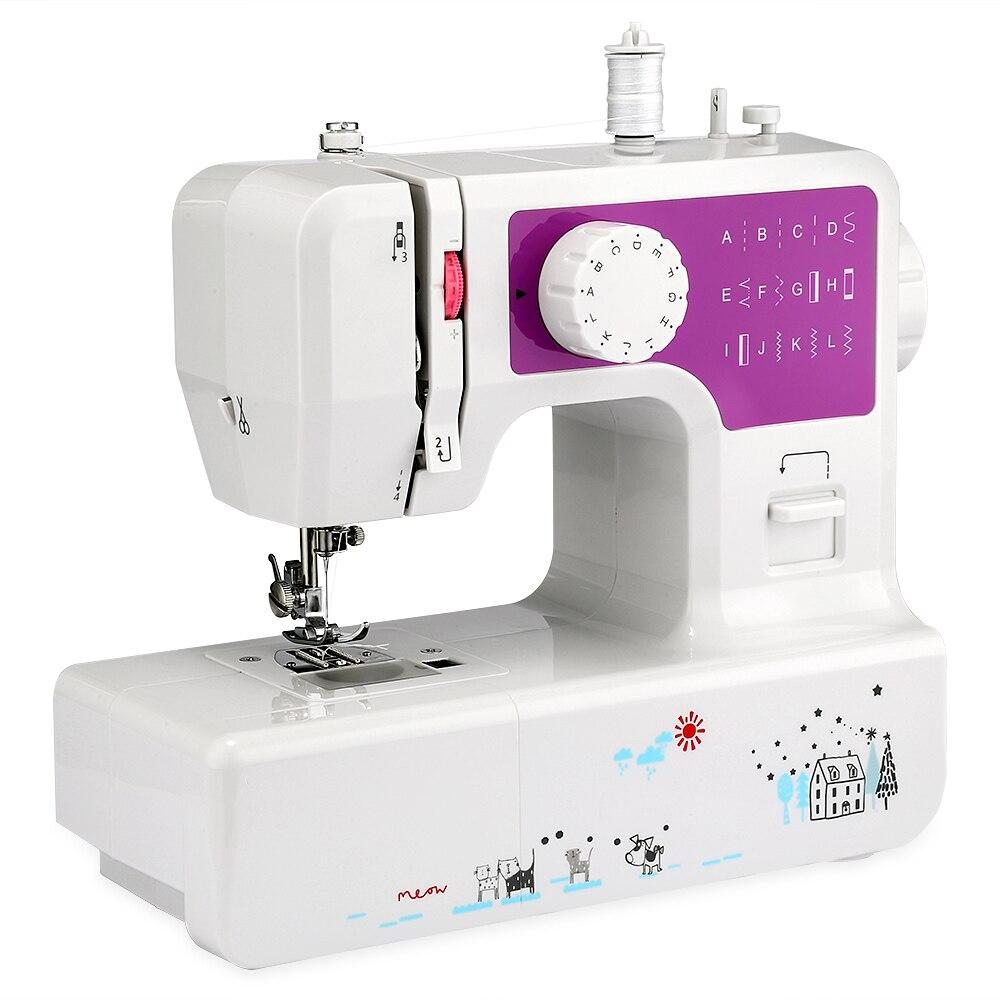 Новая бытовая швейная машина несколько швейных инструментов крышка стежка Швейные аксессуары Регулируемая скорость мини швейная Прямая д...