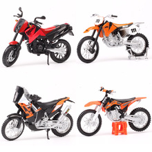 1:18 Scale Maisto Motorcycle 450 EXC Rally SXF SX520 525 640 Duke Motocross Dirt Racing Bike Diecasts Vehicles Enduro Models Toy