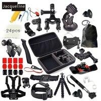 Jacqueline for Accessories Kit Head Chest Mount Monopod For GoPro hero 6 for Go Pro hero 2 3+ 4 5 for Eken h9r h9
