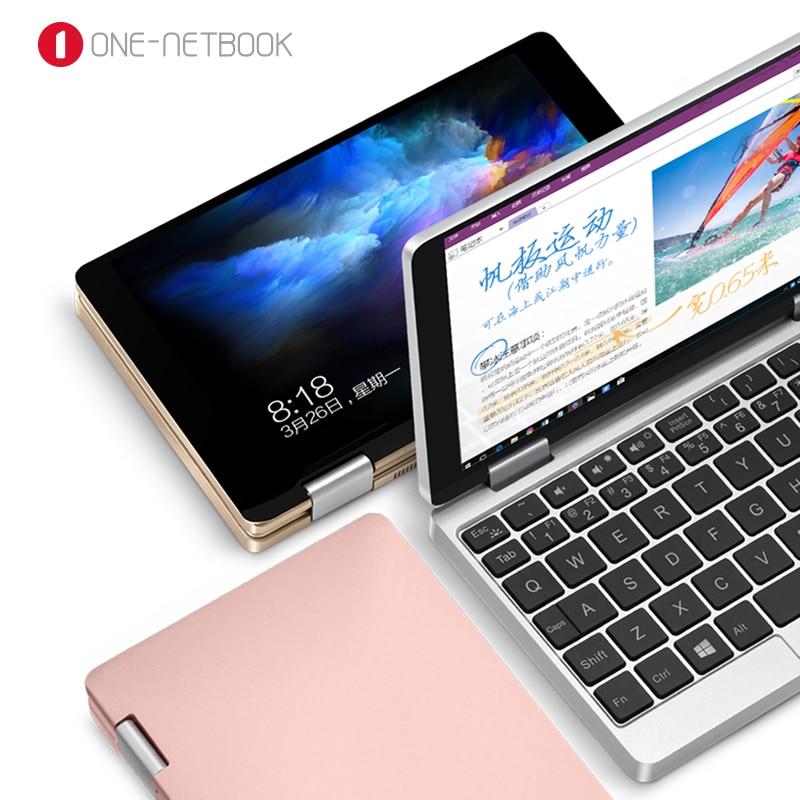 Licenza originale di Windows 10 One Netbook Una Tasca Della Miscela 7 Pollice Mini Computer Portatile UMPC Guscio In Alluminio CPU x5-Z8350 8 GB/128 GB Argento