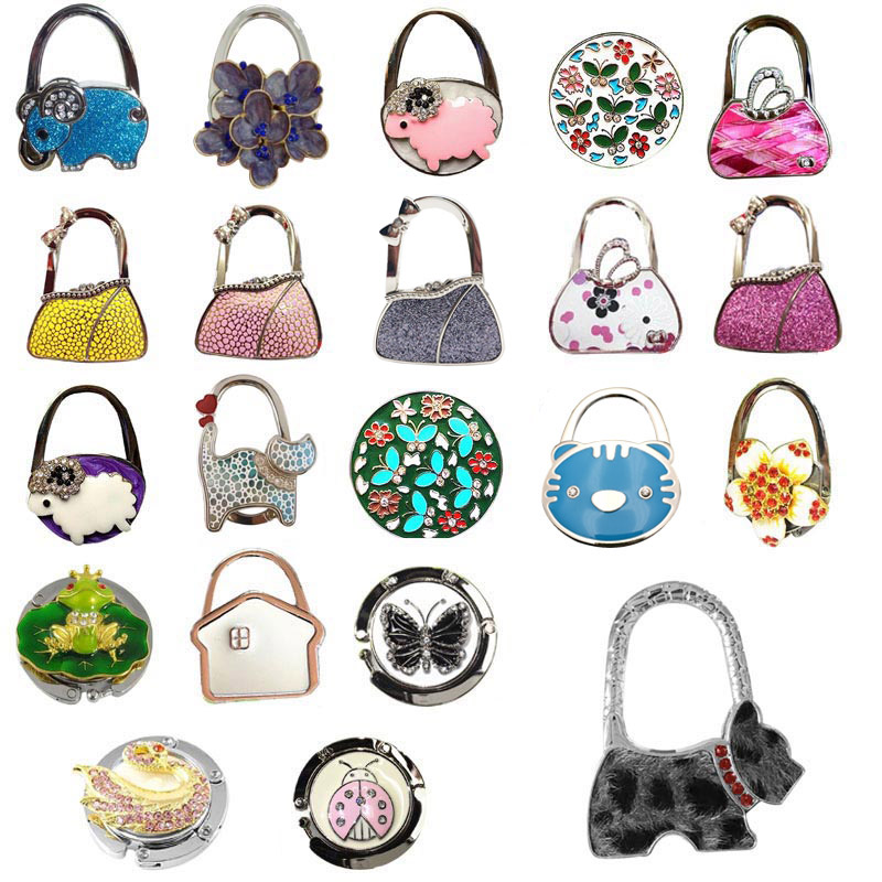 Lovely Colorful Folding Handbag Purse Tote Bag Hanger Decor Holder Table Hook For Gift Best Sale-WT