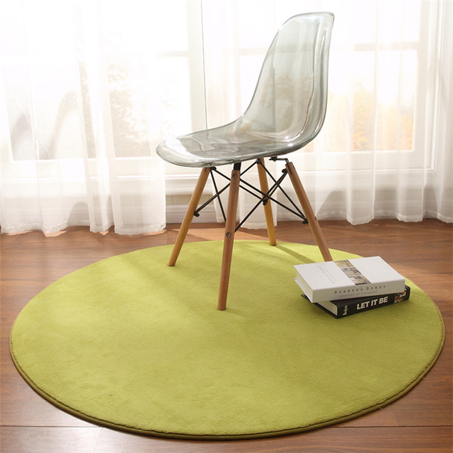Magnificent Us 16 24 40 Off Coral Velet Round Area Rug For Living Room Anti Slip Office Chair Floor Mats Child Room Carpets Baby Crawling Blanket Prayer Mat In Evergreenethics Interior Chair Design Evergreenethicsorg