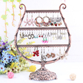 Free shipping Antique brass Cup shape Metal Jewelry Earring display,Necklace showcase Jewelry Display Rack stand holder