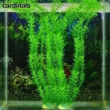 Aquário de plástico eco artificial de 37cm, plantas falsas de plástico eco amigável, acessórios de decoração de tanque de escova para casa