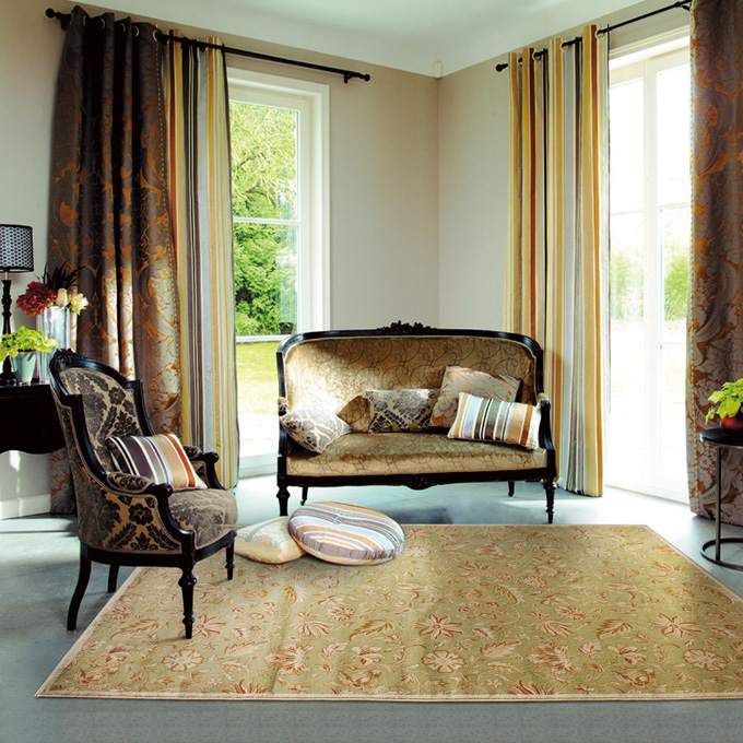 rustic empty living room carpet | vintage floral area rugs rustic American country hotel ...
