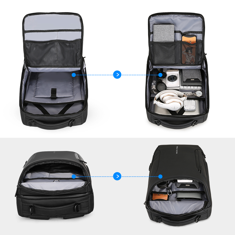 Image 5 - Mark Ryden 2019 New Anti thief Fashion Men Backpack Multifunctional Waterproof 15.6 inch Laptop Bag Man USB Charging Travel Bag-in Backpacks from Luggage & Bags