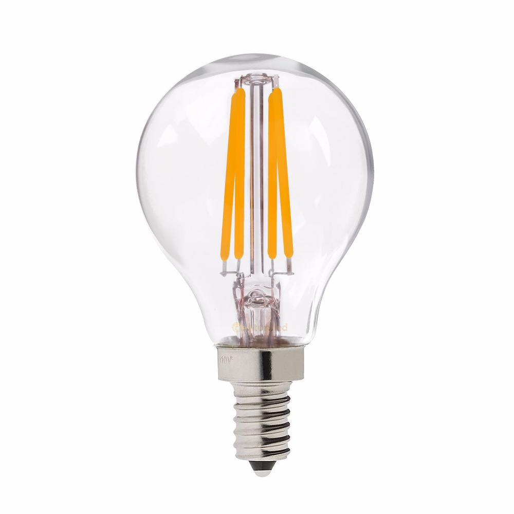 E14 G45 Led Filament Bulb Light Replacement With 40w Traditional Lamp 2700k Warm White Free