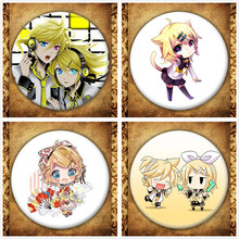 Japanese Anime Singer Kagamine Rin/len Display Badge Fashion Cartoon Figure Kagamine Rin Len Brooches Pin Jewelry Accessories rin sparrow bookends