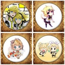 Japanese Anime Singer Kagamine Rin/len Display Badge Fashion Cartoon Figure Rin Len Brooches Pin Jewelry Accessories