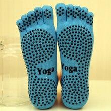 Yoga Socks Ladies Sport Pilates Socks Ballet Dance Socks Five fingers silicone dots non-slip Socks&Gloves Set Newest good price