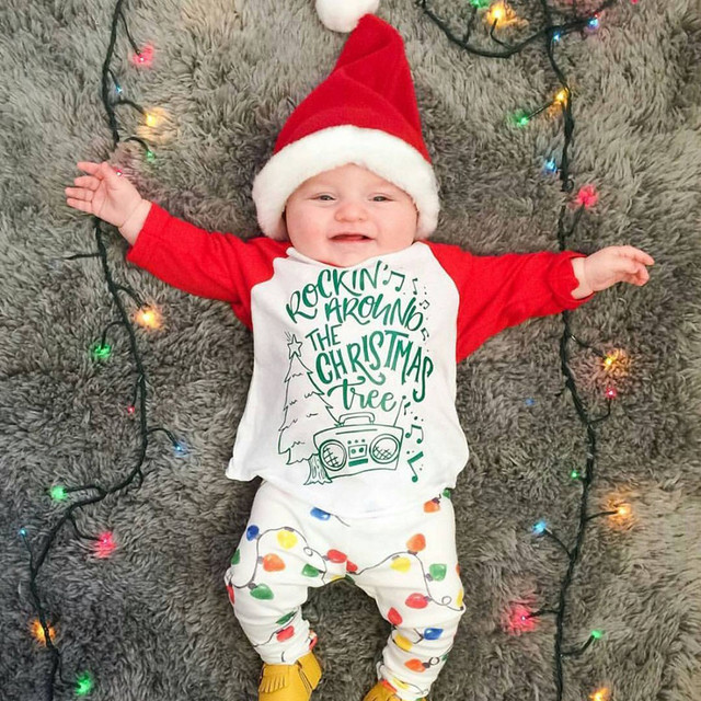 MUQGEW baby clothing christmas newborn outfit Infant baby boys clothes Girl  Letter T shirt Tops Pants - Aliexpress.com : Buy MUQGEW Baby Clothing Christmas Newborn Outfit