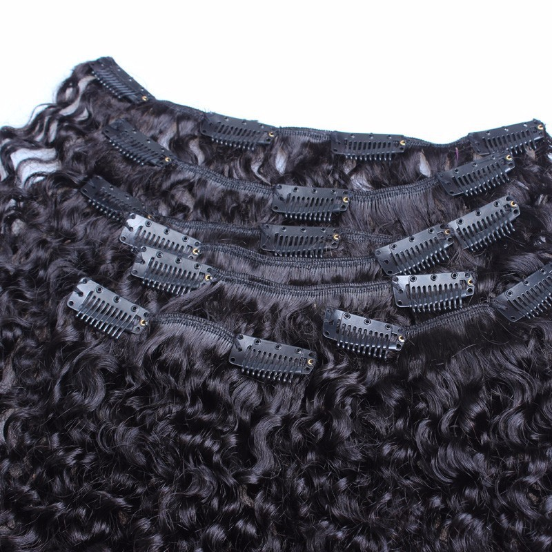 Kinky-Curly-Clip-In-Hair-Extensions-Natural-Hair-3B-3C-African-American-Clip-In-Human-Hair