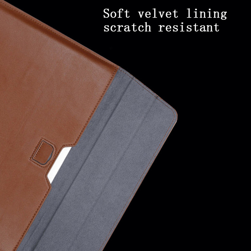 Image 4 - New Notebook Case Laptop Sleeve Cover For Macbook Air 13 Pro Retina 11 12 2018 15 Touch Bar For Xiaomi Pro 15.6 Leather Bag-in Laptop Bags & Cases from Computer & Office