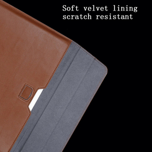 Image 4 - New Notebook Case Laptop Sleeve Cover For Macbook Air 13 Pro Retina 11 12 2018 15 Touch Bar For Xiaomi Pro 15.6 Leather Bag