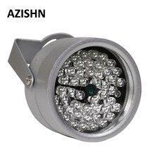 AZISHN CCTV светодиоды 48IR осветительный Светильник ИК инфракрасного ночного видения металлический водонепроницаемый CCTV заполняющий светильник для камеры видеонаблюдения