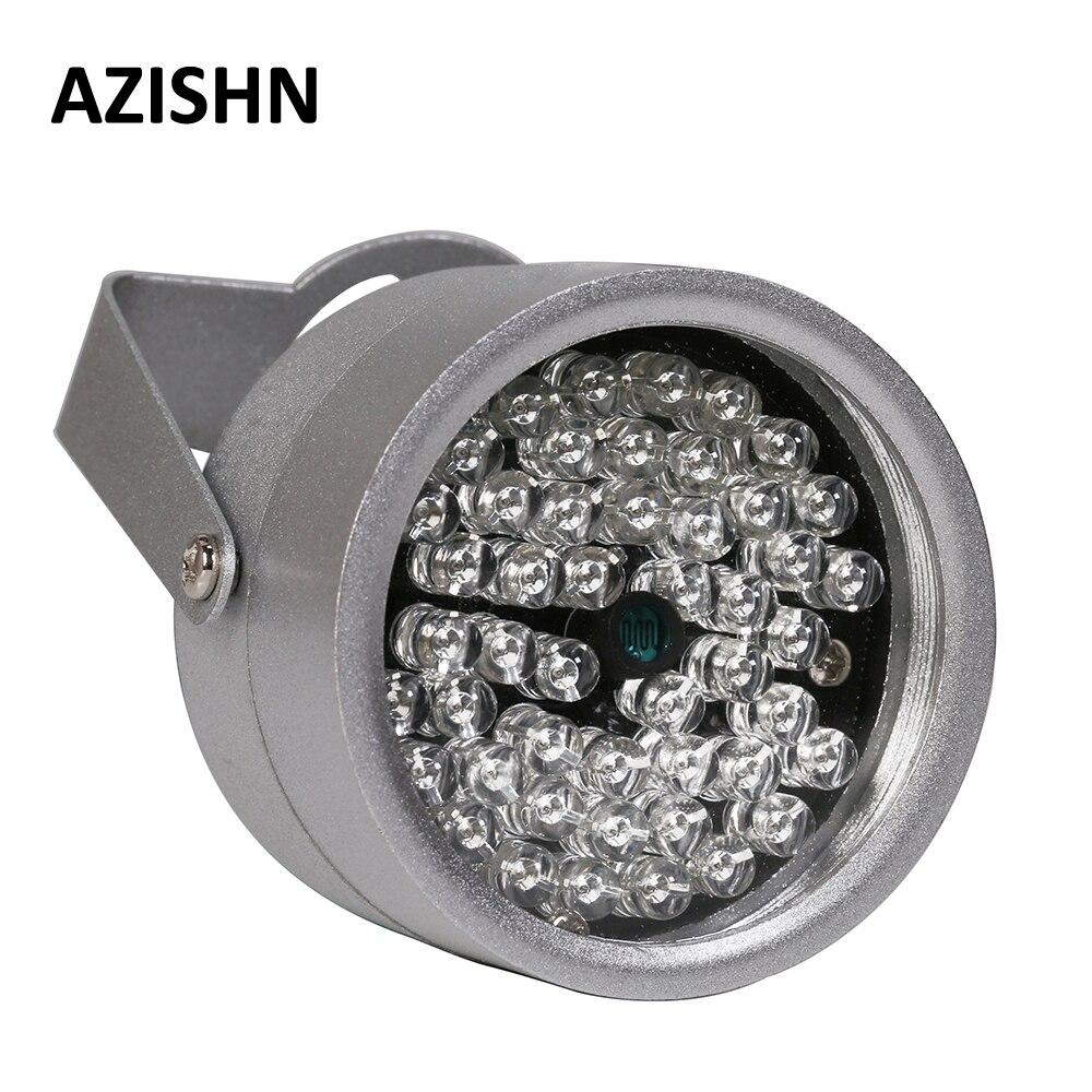 48IR AZISHN CCTV LEDS Luz do iluminador IR Infravermelho de Visão Noturna Luz de Preenchimento de metal à prova d' água CCTV Para CCTV câmera de Vigilância