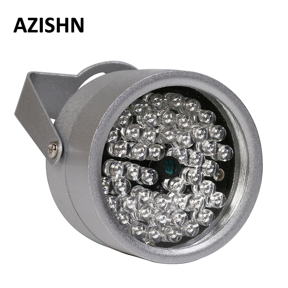 Azishn cctv leds 48ir iluminador luz ir infravermelho visão noturna metal à prova dwaterproof água cctv luz de preenchimento para cctv câmera de vigilância