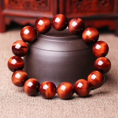 fb8ad2e382 New Natural Stone Red Tiger Eye Bracelets Bangles Elastic Rope Chain  Friendship Bracelets For Women and Men Jewelry
