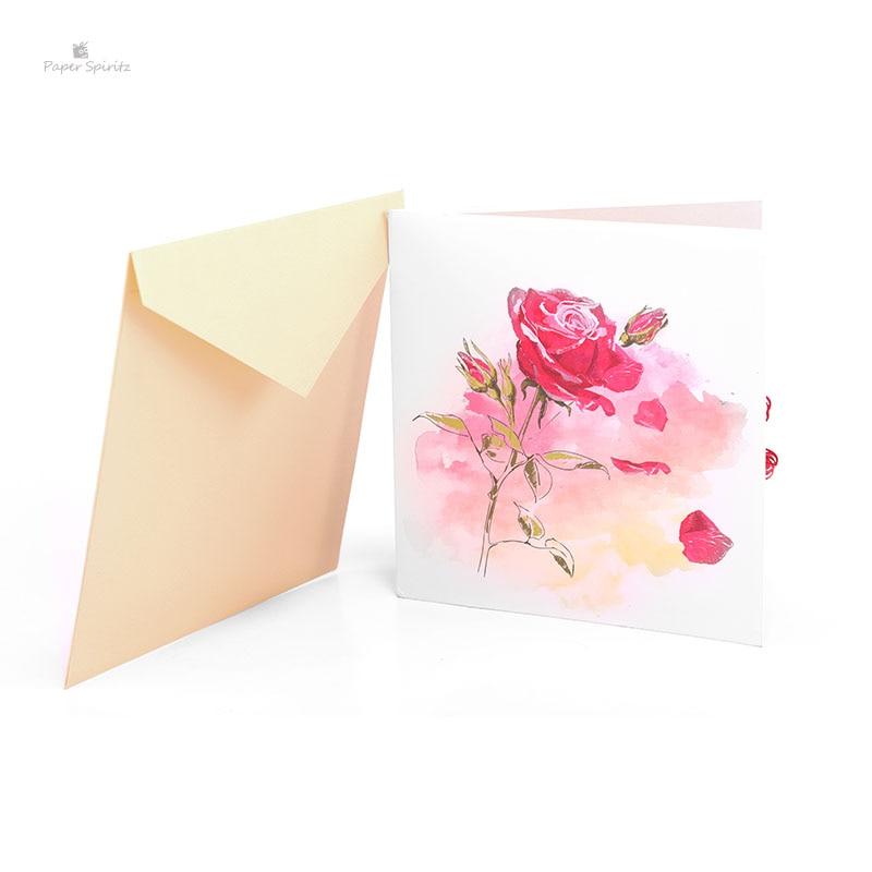 Розы с бумаги на открытки, юбилеем