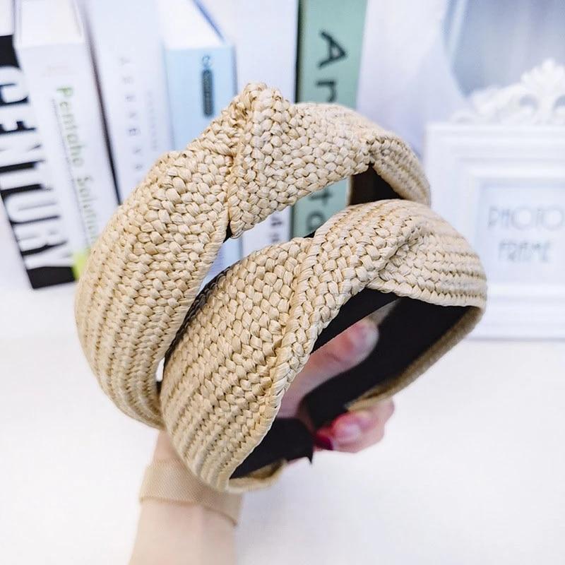 Bohemian Vintage Straw Lafite Grass Weaving Headband Hairband Hair Accessories*