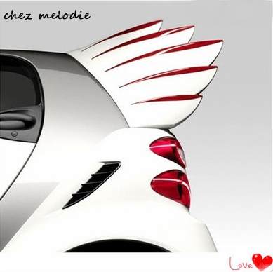 Angel Style Abs Sports Car Rear Spoiler Wings For Benz Smart 2009