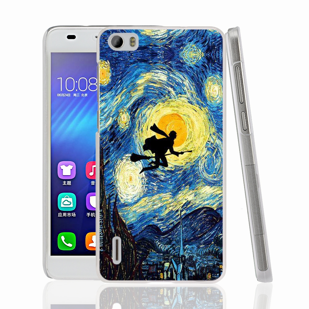 HAMEINUO Vincent Van Gogh Starry Sky Oil cell phone Cover Case for huawei honor 3C 4A 4X 4C 5X 6 7 8 Y3 Y5 Y6 2 II Y560 Y7 2017