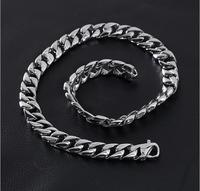 Cuban Curb Link Chain Necklace 60CM Long 15MM Wide Necklaces For Men 316L Stainless Steel Necklace Party popular necklace