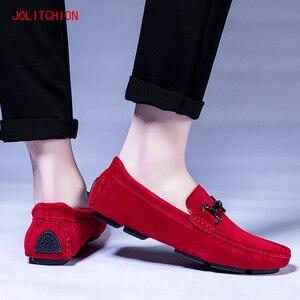 Image 5 - Sıcak satış marka erkek mokasen ayakkabıları gündelik erkek ayakkabısı süet deri Mocassim Masculino nefes tekne ayakkabı üzerinde kayma Chaussures Hommes
