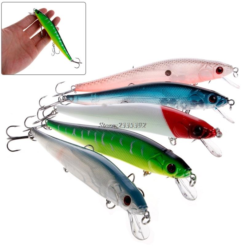 1Pc Hard Minnow Fishing Lures Bass Crankbait 4# Hook Tackle Crank Baits 14cm/23g MAY23_35 1pcs fishing lures hard 4 5cm 4g bait minnow lure fishing bass crankbait swimbait trout baits with 2 hooks fishing tackle fa 313
