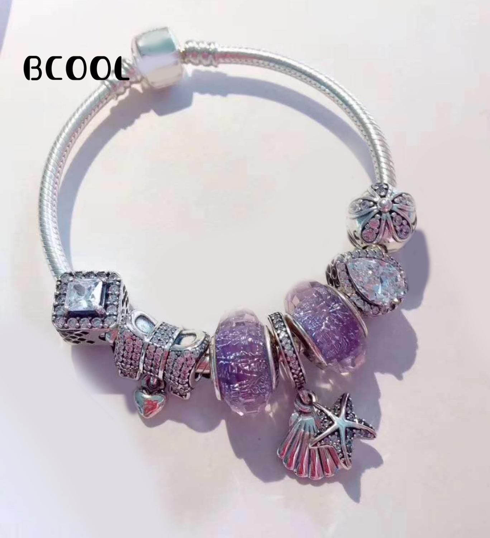 100% 925 argent Sterling Original 1:1 nouvelle série océan Bracelet à breloques en argent à la mode adapté pour les femmes cadeau Bracelet bijoux