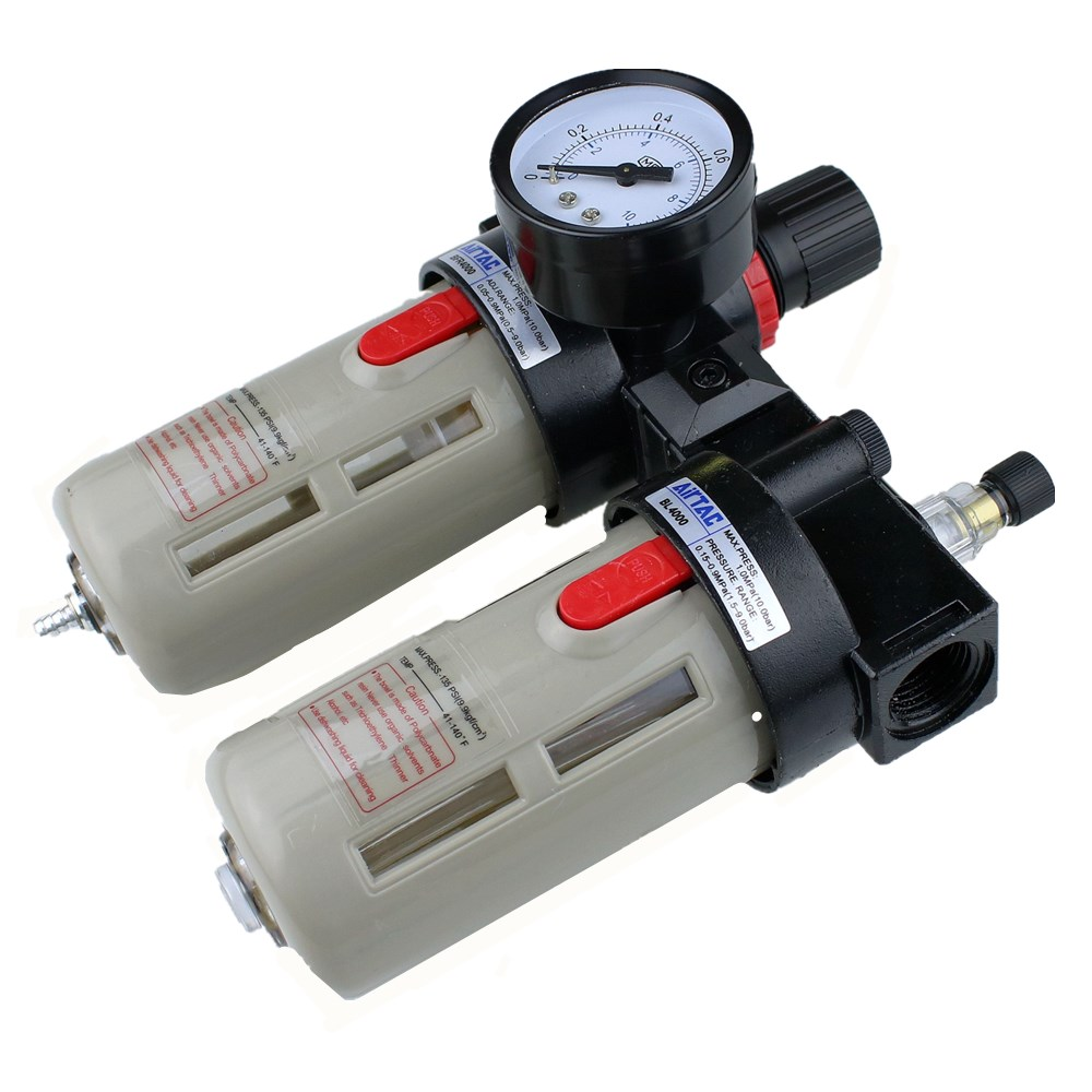 """Image 2 - BFC4000 Free Shipping 1/2"""" Air Filter Regulator Combination Lubricator ,FRL Two Union Treatment ,BFR4000 + BL4000-in Pneumatic Parts from Home Improvement"""