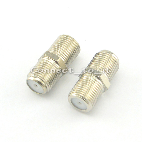 (5 pieces/lot) high quality! Free shipping Nickel   F Type Female to Female Coaxial Barrel Coupler Adapter connector with track 5 pieces lot eljpe6n8kfa 3kreel electronics component