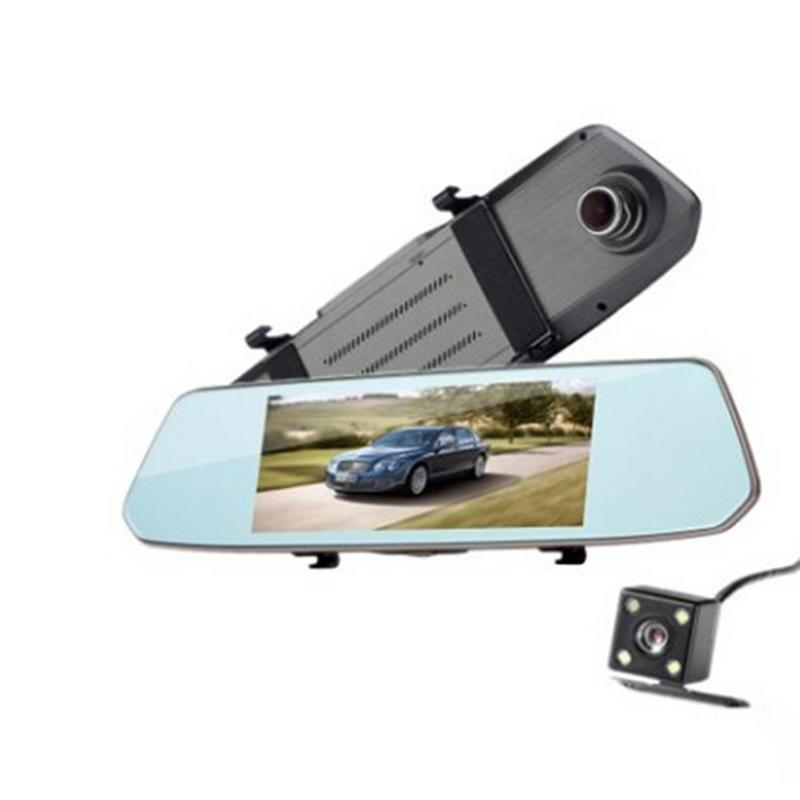 Rear View Camera Travel Recorder 7 Inch High Definition Touch Screen Track Offset Reverse Image Recorder Car Camera in DVR Dash Camera from Automobiles Motorcycles