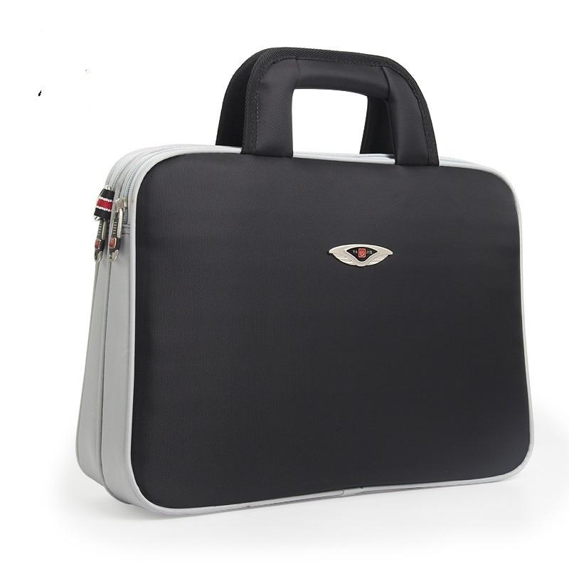 102-2  New Fashion Horizontal Oxford Cloth Waterproof Briefcase Single Shoulder Portable File Bags Men's Business Bag