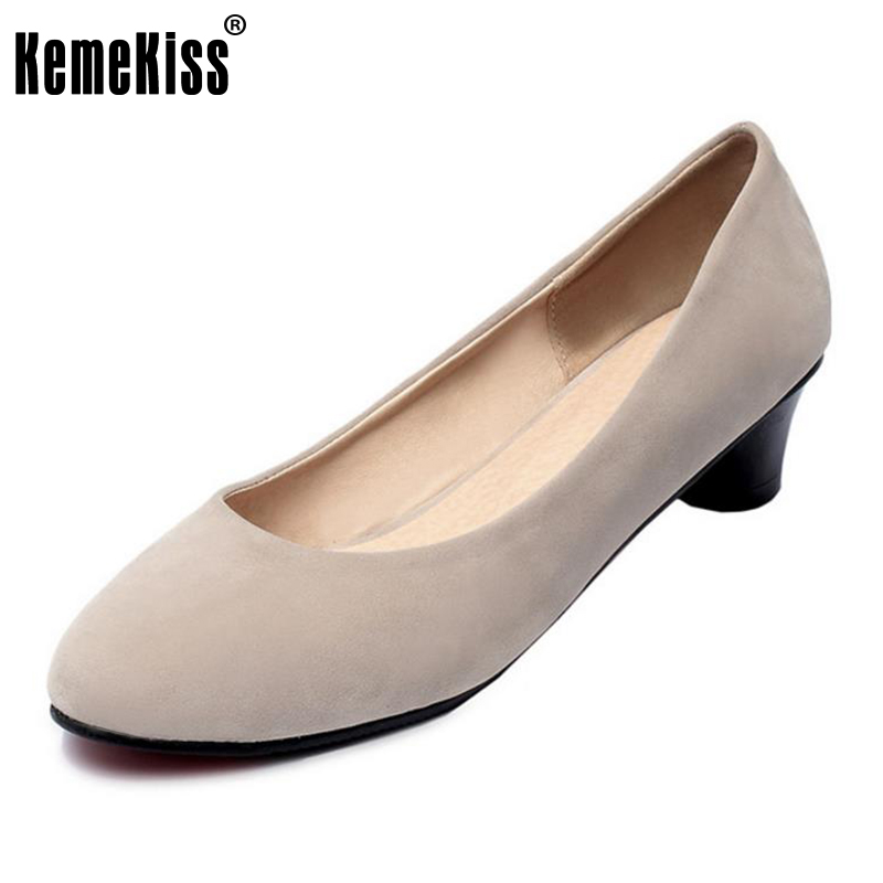 KemeKiss Size 31-43 Office Lady High Heel Shoes Women Solid Color Round Toe High Heels Pumps Daily Work Party Concise Footwears 2017 shoes women med heels tassel slip on women pumps solid round toe high quality loafers preppy style lady casual shoes 17