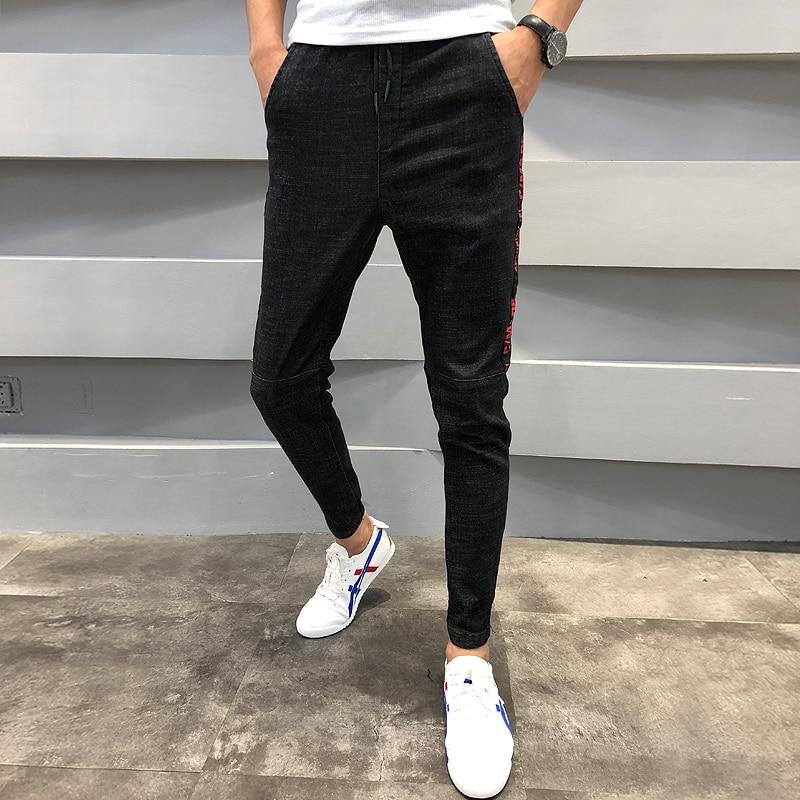 36 Nouvelle Offre Fit Spéciale Jeans Hop The Mode Lettre Marque De Joggers 2019 Pantalon As Hip Mi Photo Denim Show Casual Hommes Slim Taille HYHEqdr