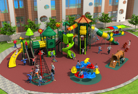 Kids Assembly Amusement Outdoor Playground Slide Play Structure Equipment For Park YLW 17931