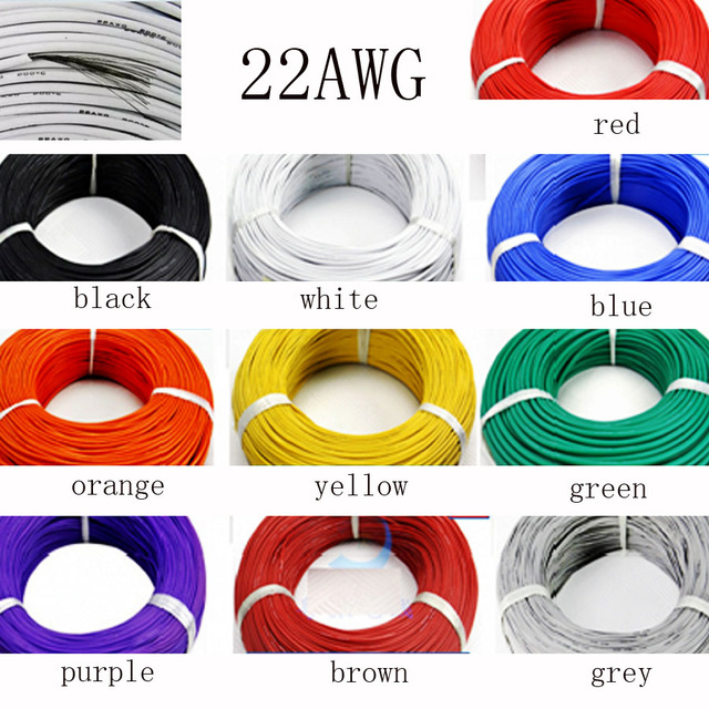 50 meter 22AWG Weiche Silikon Kabel 0.3mm2 Ultra Flexiable Testlinie ...
