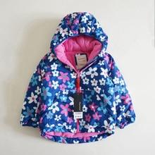 תינוק בנות חורף מעיל לעבות פרח מעיל עבור בנות Windproof מעיל חורף ילדי תעלת הלבשה עליונה צמר חם עבור בנות