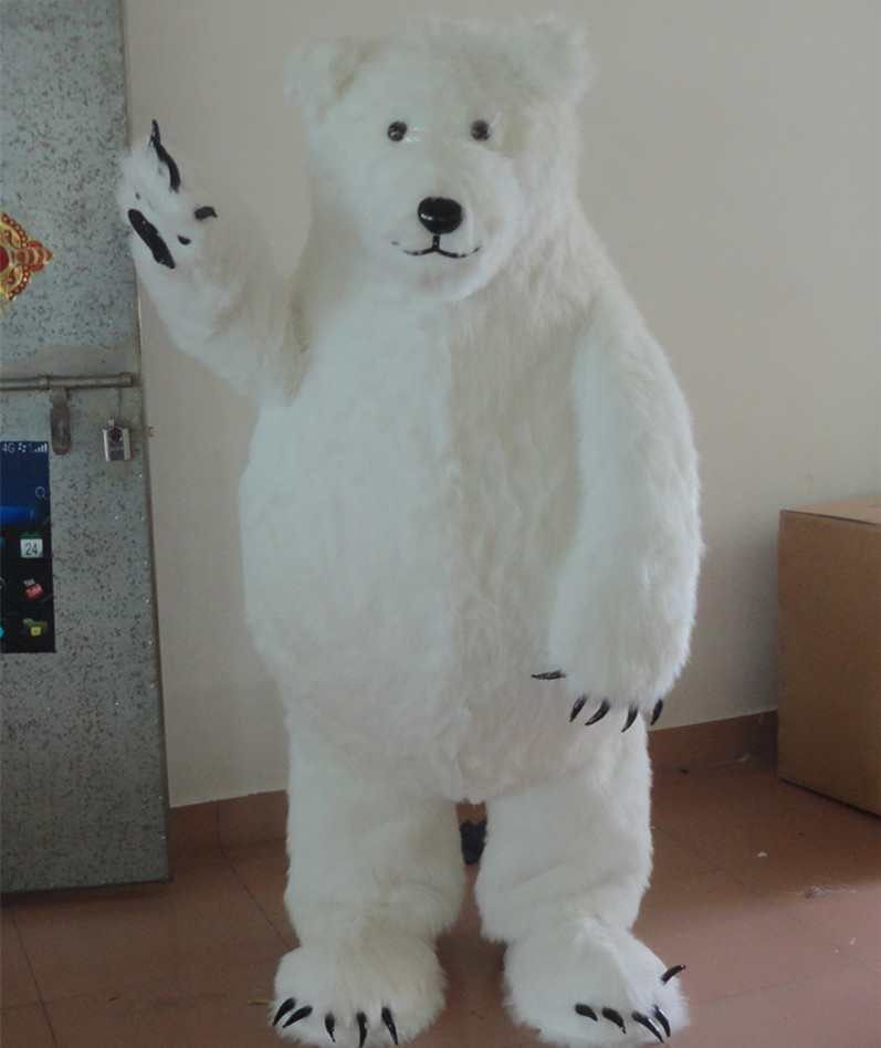 Chinese Giant Panda Mascot Costume Polar Bear mascot costume cute cartoon character mascotte costum Cosplay Outfits Adult Size